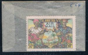 Liberia C64 Unused Farm couple 1949 (L0601)