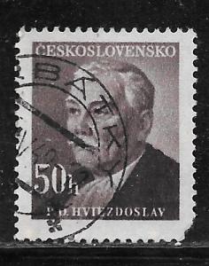 Czechoslovakia 374: 50h P.O. Hviezdoslav, used, VF