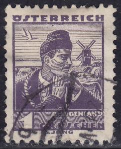 Austria 354 USED 1934 Costumes of Austria Burgenland