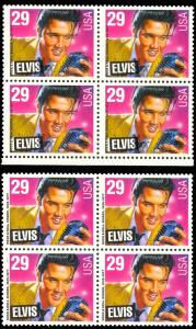 2721 Var ELVIS PRESLEY MAJOR COLOR SHIFT ERROR BLOCK  HV8564A