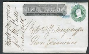 Cover - Wells Fargo - Unknown to San Francisco CA 1871 - U82