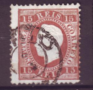 J15247 JLstamps 1870-4  portugal used #38 king