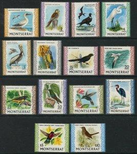 MONTSERRAT Sc#231-243A 1970-74 Birds including $10 Complete Set OG Mint LH