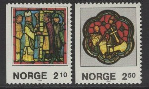 NORWAY SG990/1 1986 BOOKLET STAMPS CHRISTMAS MNH