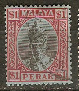 Malaya Perak 96 SG 122 Used F/VF 1940 SCV $25.00