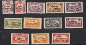Alexandretta # 1-12, Overprinted Stamps, Never Hinged, 1/2 Cat.