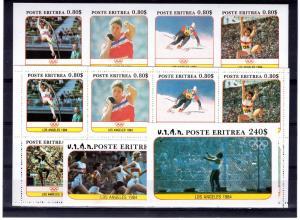 Eritrea 1984 Los Angeles Olympics Shlt(8)Perf+Imperf.+2 SS