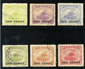 Papua 1917 KGV Surcharges set complete very fine used. SG 106-111. Sc 74-79.