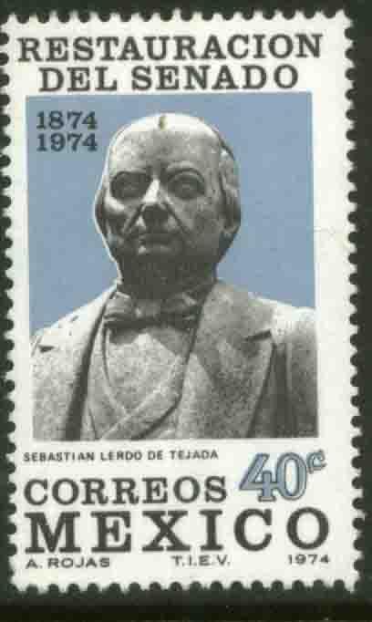 MEXICO 1069 Centenary of the restoration of the Senate MINT, NH. VF.