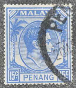 DYNAMITE Stamps: Malaya Penang Scott #13 – USED
