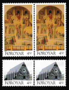 Faroe Is. Christmas issue 1996 2v in pairs SG#318-319 SC#310-311