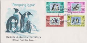 British Antarctic Territory Scott 72-75 Unaddressed.