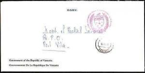 NEW HEBRIDES VANUATU 1990 Official cover Govt Council frank..........33643