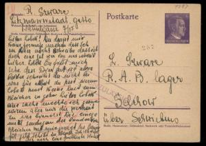 Germany Lodz Litzmannstadt Ghetto Censored Not Permitted Returned Cover 91610