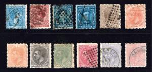 SPAIN STAMP OLD USED STAMP COLLECTION LOT #W2