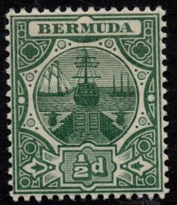 $Bermuda Sc#33 M/LH/VF, Cv. $25