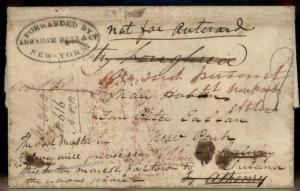 USA 1840 Ireland Dead Letter Galway New York Agent Abraham Bell Killians C 92162