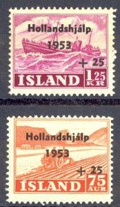 Iceland Sc# B12-B13 MH 1953 Semi-Postals