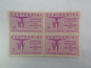 U. S. #1089  MINT  Block  OG  NH