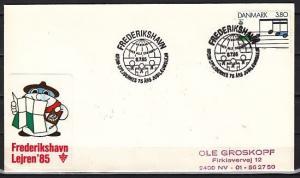 Denmark, 08/JUL/85. Lejren `85 Scouting Cancel on Cachet Envelope. ^