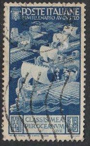 Stamp Italy SC 384 1937 Maritime Rome Birth Augustus Caesar Octavianus Used