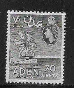 Aden 54a 70c Salt Works single MNH
