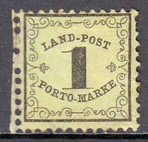 German States (Baden) - Scott #LJ1 - MH - Toning, pulled perf - SCV $5