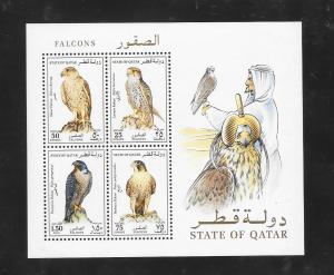 BIRDS - QATAR #839a-FALCONS  MNH