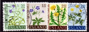 ICELAND 329-32 USED BIN $1.00 FLOWERS