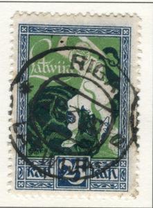 LATVIA; 1919 Courland issue fine used 25k. value Postmark