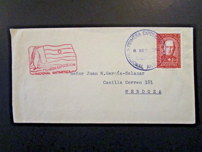 Argentina 1959 Primera Expo Antarctic Cover / Stamped Cachet - Z6169