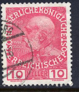 Austria 115, 10h Emperor Franz Joseph. Used. (212)