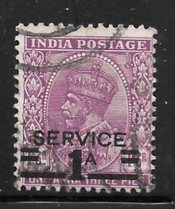 India O104: 1a on 1a3p George V Overprint, used, F-VF