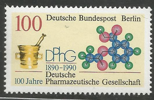 BERLIN  9N591  MNH,  GERMAN PHARMACEUTICAL SOCIETY CENT.