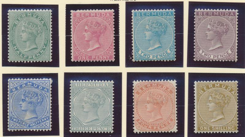 Bermuda Stamp Set Scott #18-25, Mint Hinged