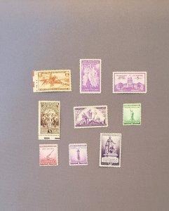 894-902, 1940 Commemoratives, Mint OGNH, CV $4.00