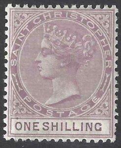 St Christopher 1887 SC 16 Mint SCV $105.00