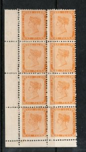 Prince Edward Island #4 Mint Fine Never Hinged Margin Block Of Eight