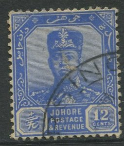 STAMP STATION PERTH Johore #111A Sultan Ibrahim Definitive Wmk 4  Used 1921-1940