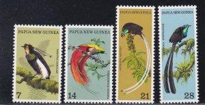 Papua New Guinea # 365-368, Birds of Paradise, NH, 1/2 Cat.,