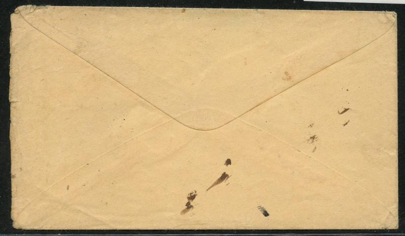 CIVIL WAR PRISON CAMP (?) COVER COLUMBUS, OH APRIL 11 BOXED CANX BU2333