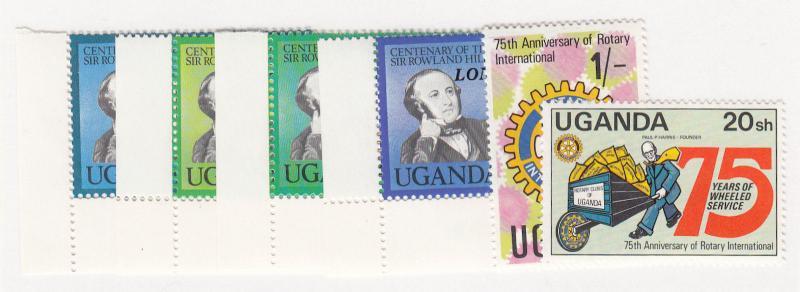 Uganda - 1980 - SC 293-98 - NH - 2 Complete sets