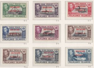 FALKLAND ISLAND DEPENDANCIES ALL 4 SETS MINT HINGED NO FAULTS VERY FINE!