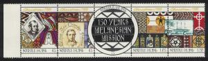 Norfolk Christmas 150th Anniversary of Melanesian Mission 5v Strip SG#717-721