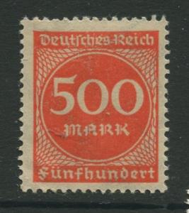 Germany -Scott 233 - Definitive Issues -1922 -  MLH - Single 500m Stamp
