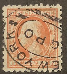 468 Used, 6c. Washington, VF/XF Jumbo
