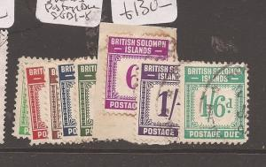 Solomon Islands Postage Due SG D1-8 VFU (10azn)