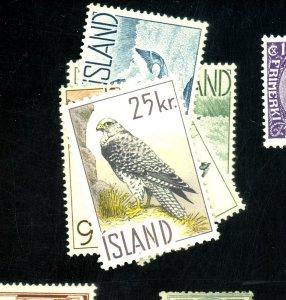 ICELAND #319-23 MINT FVF OG NH Cat $30