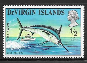 British Virgin Islands 244: 1/2c Blue Marlin (Makaira nigricans), MH, VF