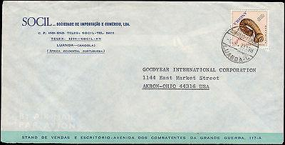 1973 ANGOLA SINGLE SHELL TO UNITED STATES